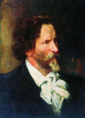 Борис Михайлович Кустодиев. Портрет И. Е. Репина. Этюд