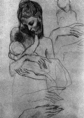 Пабло Пикассо. Мадонна с ребенком (этюд)