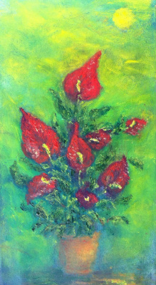 Rita Arkadievna Beckman. Flowers (man's happiness)