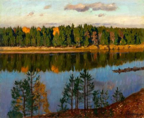 Stanislav Yulianovich Zhukovsky. Autumn on the river Neman
