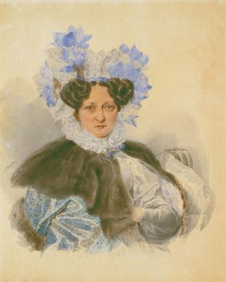 Alexander Pavlovich Bryullov. Portrait EI Zagryazhskaya. 1830s