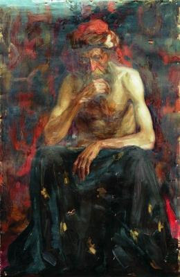 Илья Ефимович Репин. Натурщик в тюрбане