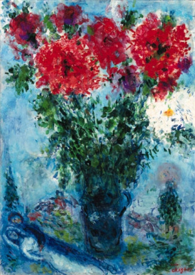 Marc Chagall. Vase with peonies