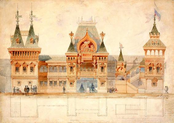 Иван Николаевич Ропет-Петров. 1878 год — павильон Русского отдела на Всемирной выставке в Париже