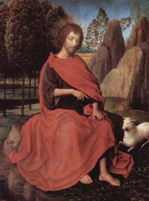 Hans Memling. Saint John The Baptist. Diptych of Saint John and Saint Veronica. The left wing