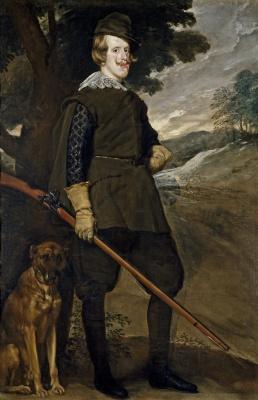 Diego Velazquez. Portrait of Philip IV in hunting costume