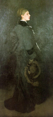 James Abbot McNeill Whistler. Arrangement in brown and black: Portrait of miss Rosa Corder
