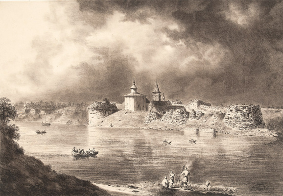 Ivan Aivazovsky. View Of Old Ladoga