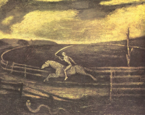 Albert Pinkem Ryder. Death on a pale horse