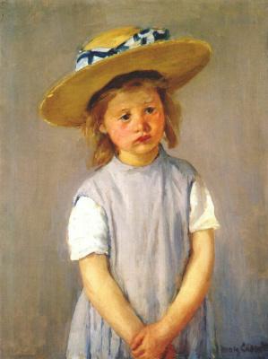 Мэри Кассат. Ребенок в соломенной шляпе