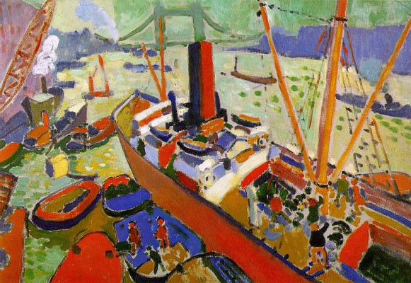 Andre Derain. The London backwater