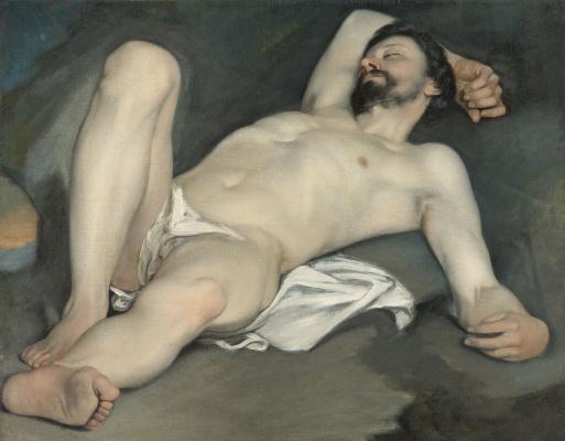 Гвидо Каньяччи. Лежащий обнаженный мужчина