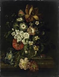 Рашель Рюйш. Натюрморт с цветами и насекомыми