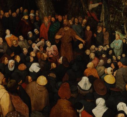 Питер Брейгель Младший. Проповедь святого Иоанна Крестителя. Фрагмент 2. Иоанн Креститель
