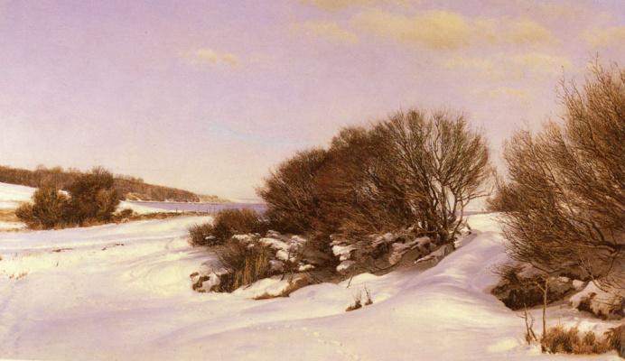 Янус Ла Кур Андреас Бартолин. Зима рядом с озером