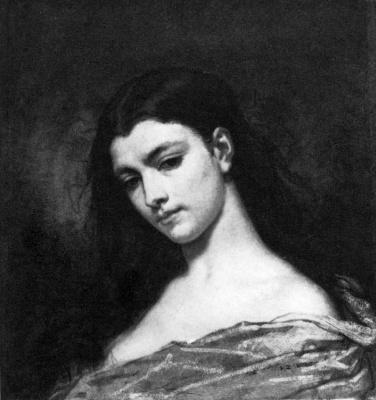 Thomas Couture. Portrait of a woman