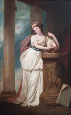 George Romney. Ms Trevor with lyre