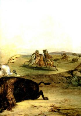 Карл Бодмер. Индейские охотники на бизонов