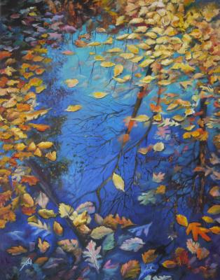 Alexey Chernov. Autumn puddle