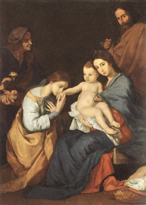 Jose de Ribera. Holy family with St. Catherine