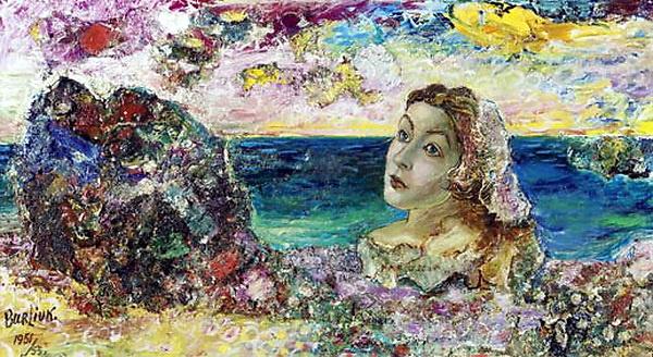 Давид Давидович Бурлюк. Сюрреалистический портрет Маруси у моря