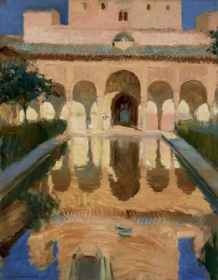 Joaquin Sorolla (Soroya). Hall of ambassadors, Alhambra, Granada