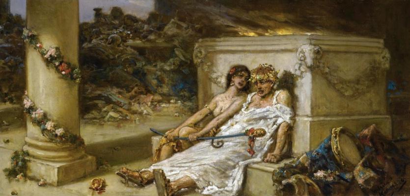 Wilhelm Kotarbinsky. Cupid and a Bacchante