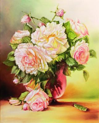 Vladimir Shtykov. Bouquet in a pink vase