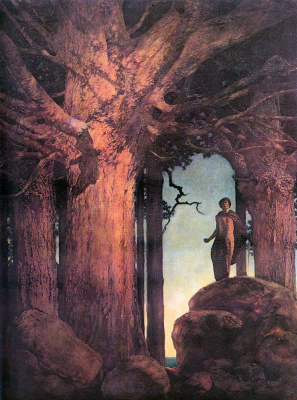 Maxfield Parrish. Jason and the Golden Fleece. Oak