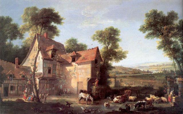 Жан-Батист Удри. Скотный двор