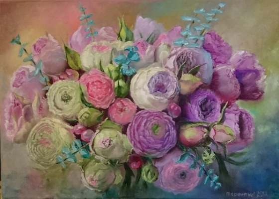 Evgeny Vladimirovich Terentyev. Bouquet of ranunculi