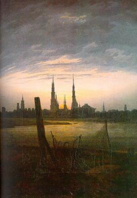 Caspar David Friedrich. City in the moonlight