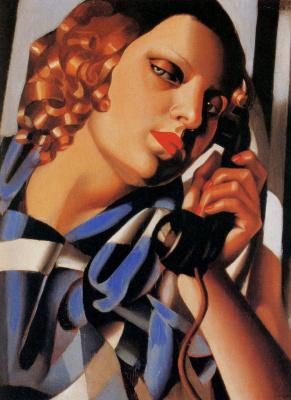Tamara Lempicka. Woman with handset