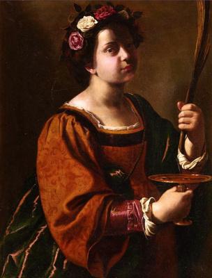 Artemisia Gentileschi. Saint Lucia of Syracuse
