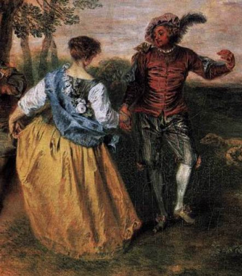 Antoine Watteau. Fun. Fragment