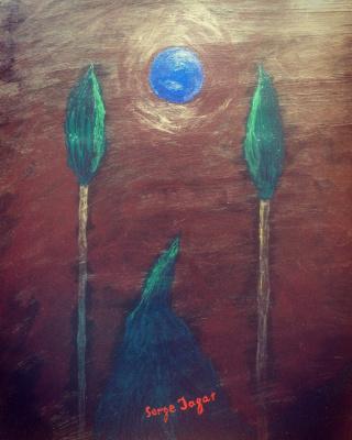 Serge Jagat. Sunrise of the blue sun