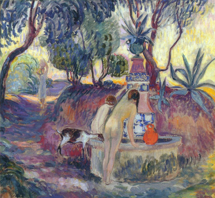 Henri Lebasque. Bathers in the fountain of Saint-Tropez