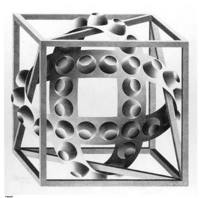 Maurits Cornelis Escher. Magic Ribbon Cube