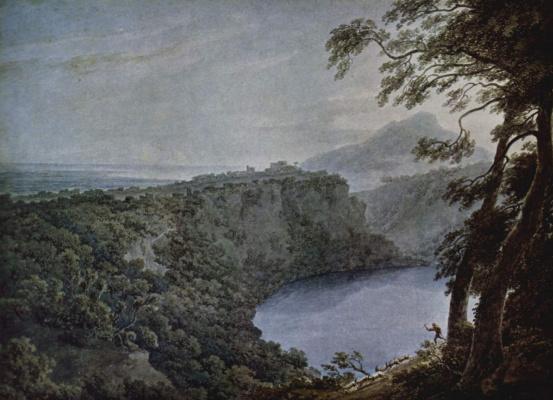 Джон Роберт Козенс. Вид на озеро Неми
