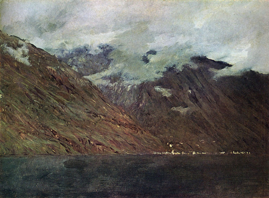 Isaac Levitan. Lake Como. A sketch for the painting of the same name