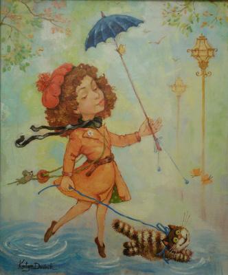 Екатерина Дудник. Прогулка под дождем