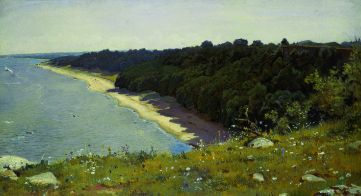 "Ivan Ivanovich Shishkin. On the shore of the sea. A sketch for the painting ""off the coast of the Gulf of Finland (Adrias near Narva)"""
