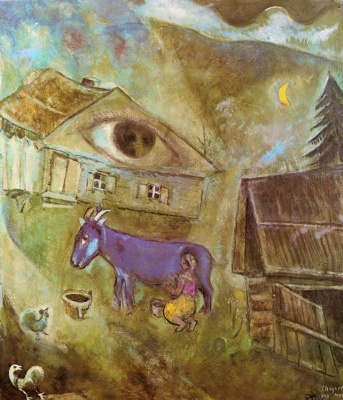 Marc Chagall. The house with the green eye