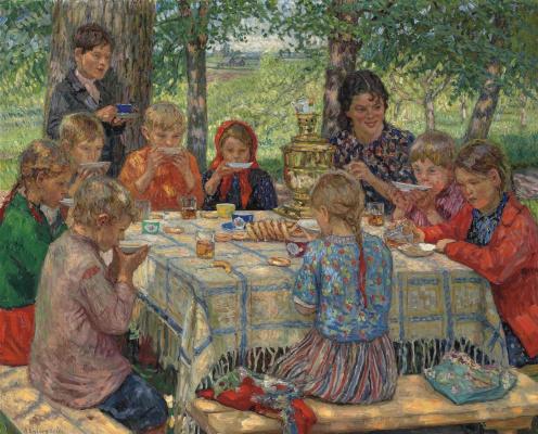 Nikolay Petrovich Bogdanov-Belsky. Teacher's day