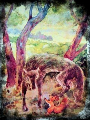 Salavat Magomedovich Salavatov. The squirrel and the wolf