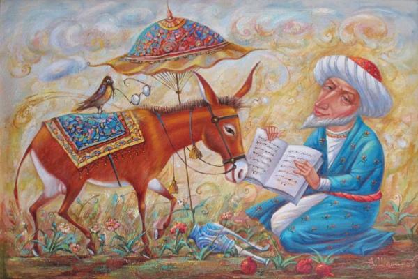 Александр Николаевич Шабанов. DISPUTE IN THE MIDDLE ... DISPUTE NARRED Oil on canvas 50 * 75