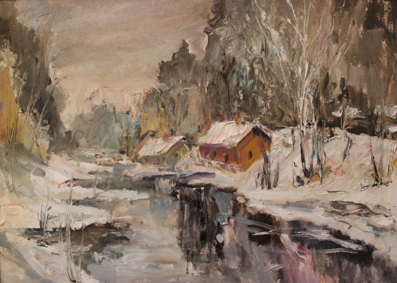 Love Sergeyevna Nikulina. Winter river