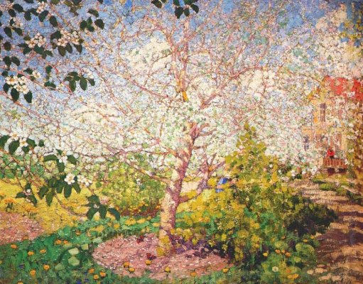 Alexander Mikhailovich Gerasimov. The Apple trees in bloom