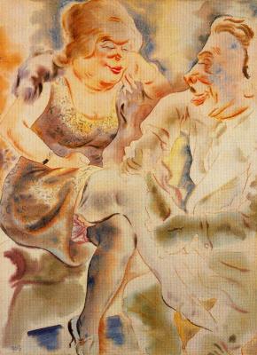 George Grosz. Courtship
