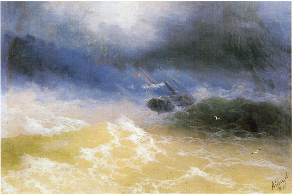 Ivan Aivazovsky. A hurricane at sea